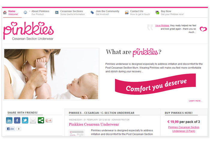 Pinkkies Website